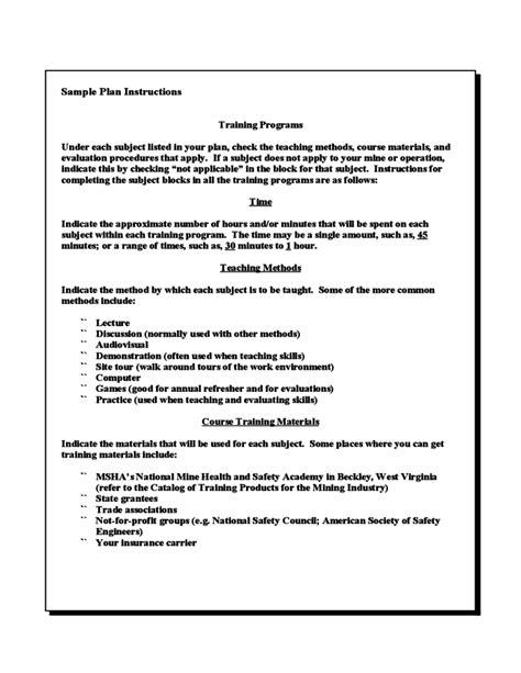 cfr part  starter kit model training plan
