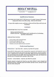 High school student first time job resume perfect resume for First time employment resume