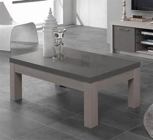 Table Chene Blanchi : table basse fano chene blanchi laque gris chene blanchi gris brillant l 127 x h 44 x p 66 ~ Teatrodelosmanantiales.com Idées de Décoration