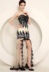 robe asymetrique avec voile et dentelle noir With robe de mariée dentelle avec bijoux or homme