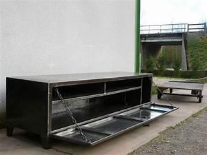 Rangement Métallique Industriel : 7 les enfilades meubles tv geonancy design ~ Teatrodelosmanantiales.com Idées de Décoration
