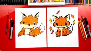 How To Draw A Cute Fox - Art For Kids Hub