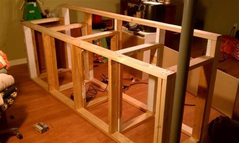 basement bar plans  tips   build  bar top