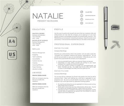 creative resume templates free word pdf documents