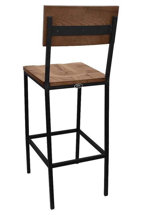 Resturant Bar Stools The Henry Steel Bar Stool With Distressed Wood Bar