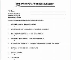 operations procedures manual template With creating sop template