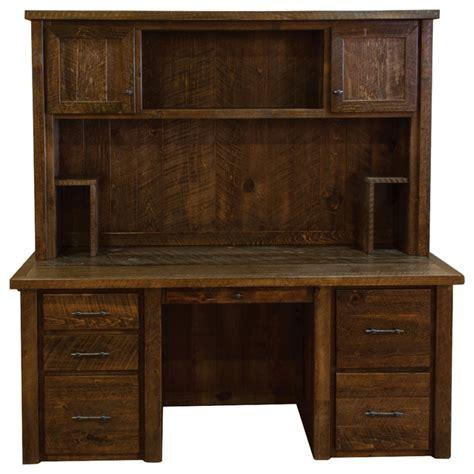 executive desk with hutch rustic barn wood timber peg executive desk with hutch