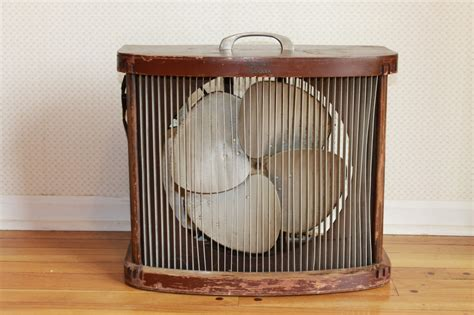 box fan sw cooler vintage mathes cooler parlor floor electric wood fan the