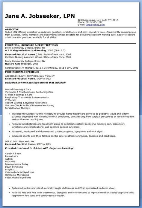 Lpn Nursing Resume by 9 Best Lpn Resume Images On Lpn Resume Sle