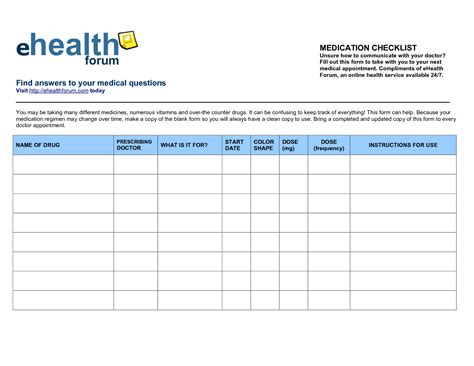 schedule a letter 7 best images of printable medication list printable 29453