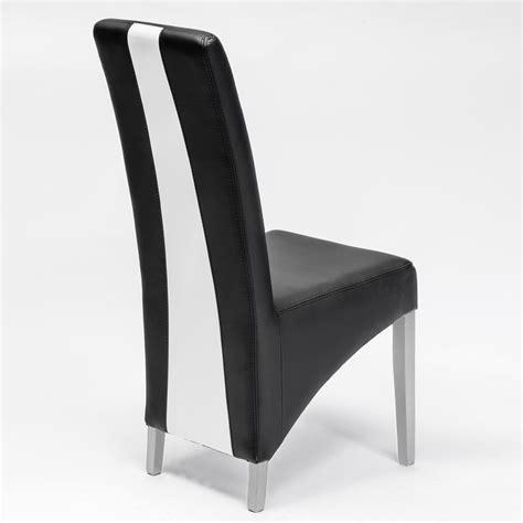 chaise noir et blanc design chaise design salle a manger 2 chaise moderne chaise noir et blanc en pu moderne erica lot de