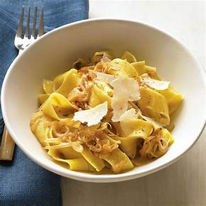 Pappardelle with Caramelized Onions and Parmesan