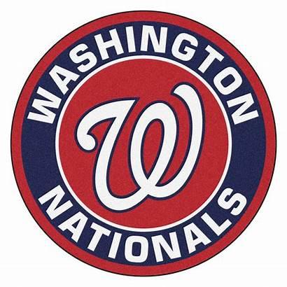 Nationals Washington Mlb Rug Fanmats Round Baseball