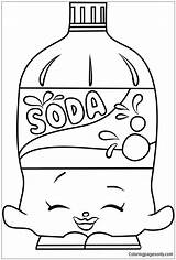 Soda Coloring Shopkins Pages Bottle Printable Drawing Shopkin Summer Colouring Pop Coke Bottles Coloringpagesonly Baking Drink Sheets Getdrawings Toys Cola sketch template