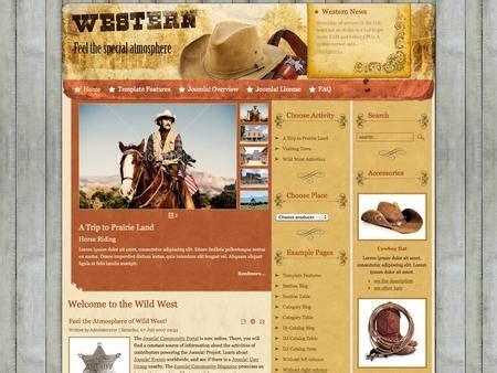 country feels template joomla template jm western