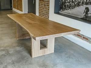 Table Bois Massif Brut : table a manger bois massif ~ Teatrodelosmanantiales.com Idées de Décoration