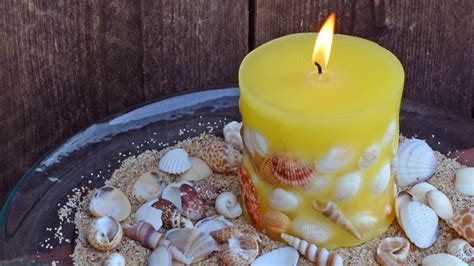 diy seashell candles  holders guide patterns