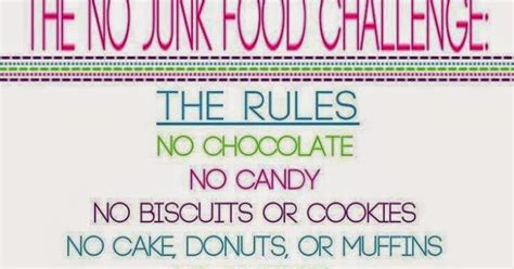 The 21 Day No Junk Food Challenge