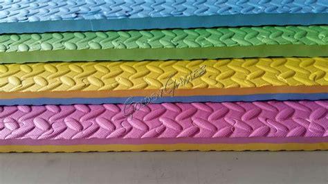 tappeto antitrauma per interni tappeto antitrauma da interno bicolore verde azzurro