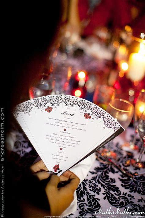 spanish fans wedding theme  wedding stationery