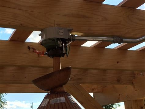 how to install a ceiling fan box without attic access need help mounting our new outdoor ceiling fan under our