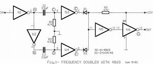 Frequency Doubler With 4069 Circuit Diagram And Instructions