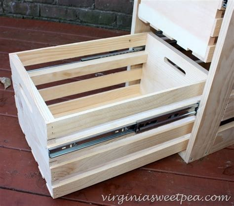 Sliding Drawers For Cabinets by Diy Crate Cabinet With Sliding Drawers Sweet Pea