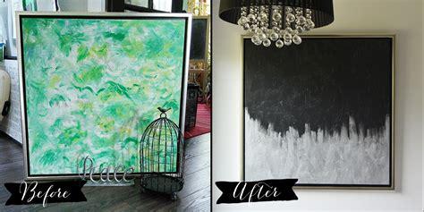Make Modern Artwork from Thrift Store Canvas Art  The DIY