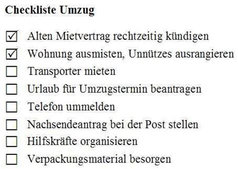 To Do Umzug by Todo Liste Checkliste
