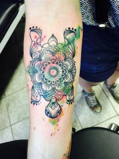 tattoo turtle tattoo  mandala shield