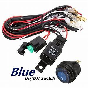 Audew 40a 12v Led Light Bar Wiring Harness Relay On  Off