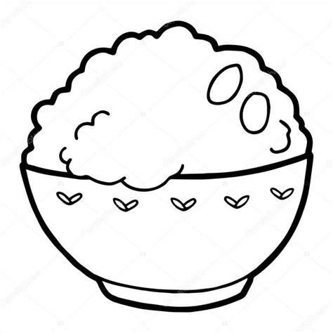kumpulan gambar mewarnai nasi makanan pokok orang