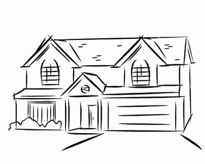 Clipart Pencil Easy Mansion Draw Drawing Transparent