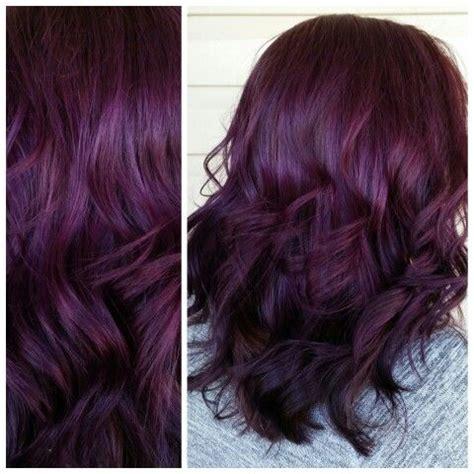 violet purple plum hair pinteres