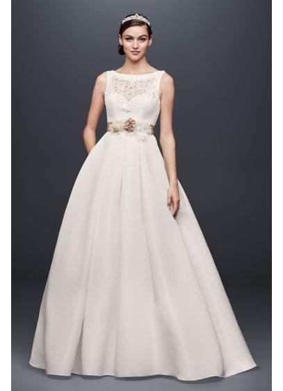 open  wedding dress  beading  pockets davids