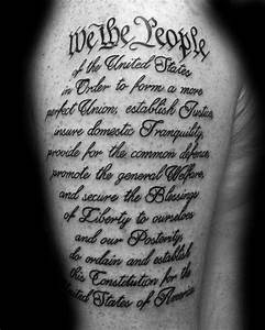 60 We The People Tattoo Designs For Men - Constitution Ink ...