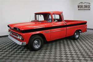 1960 Red RESTORED RARE FLEETSIDE CUSTOM V8! for sale