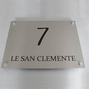 Plaque Numero Maison Design : plaque de maison moderne et design en alu bross creativ 39 sign ~ Melissatoandfro.com Idées de Décoration
