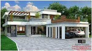 Contemporary, House, In, Kerala