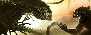 Predator vs Alien Queen by RoguePL on DeviantArt