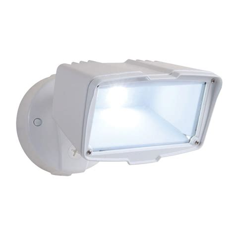 Best Flood Light For Backyard by All Pro White Outdoor Integrated Led Large Single