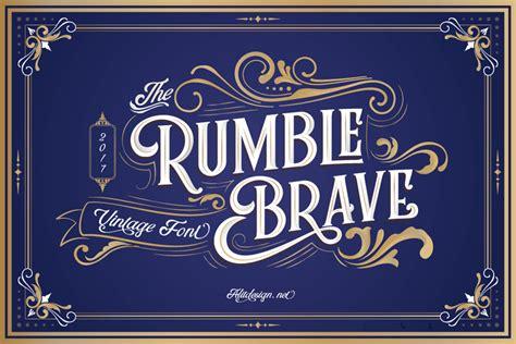 Rumble Brave Font | dafont.com