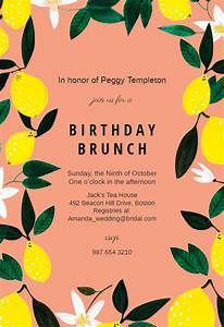Save The Date Download Template Lemons Birthday Invitation Template Free Greetings