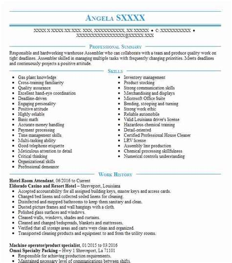 Hotel Room Attendant Resume by Hotel Room Attendant Resume Sle Attendant Resumes