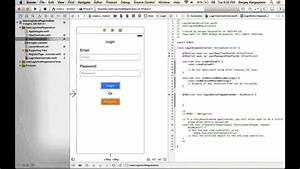 Example Of Application Form User Login And Register Sign Up Example Using Swift On Ios