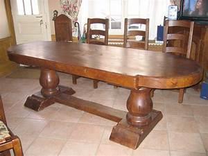Table Chene Massif Rustique : table en chene ~ Teatrodelosmanantiales.com Idées de Décoration