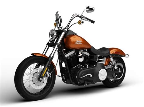 Harley-davidson Fxdb Dyna Street Bob 2015 3d Model .max