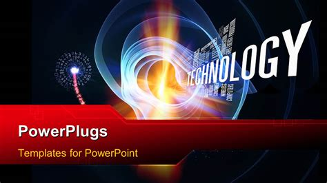 powerpoint template technology words  abstract forms