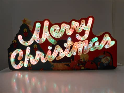 classic christmas light 90s classics merry sign that blinks flashes