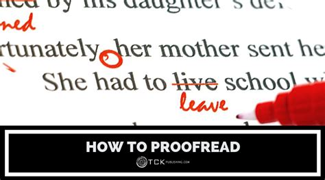 proofread tips   cleaner draft spelling